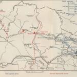 Карта передвижений наших армий перед Смоленском
