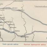 Карта отступлений 1-ой армии от Смоленска к Соловьевой переправе