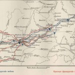 Карта движений войск от Соловьевой переправы к Бородино